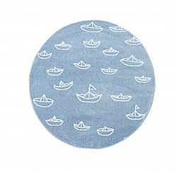 Childrens rugs - Bueno Sailing Boats Round (blue)