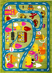 Childrens rugs - Moda Town (green)