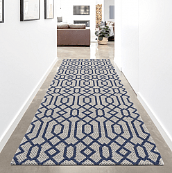 Cotton rug - Leynar (light grey/blue)
