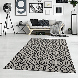 Cotton rug - Kebira (light grey/black)