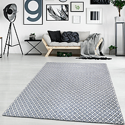Cotton rug - Saltnes (light grey/blue)