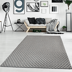 Cotton rug - Saltnes (light grey/black)