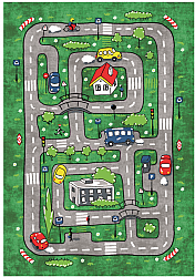 Childrens rugs - Village Road (green)