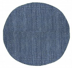 Round rug - Snowshill (blue/black)