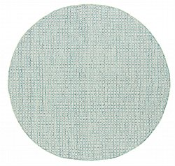 Round rug - Snowshill (turquoise/white)