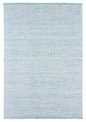 Wool rug - Snowshill (turquoise/white)