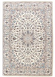 Jacquard woven Nain rug (ivory/light blue)