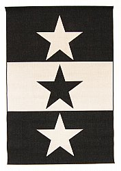 Wilton rug - Three Star (black/white)