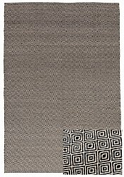 Wool rug - Varella (black/white)
