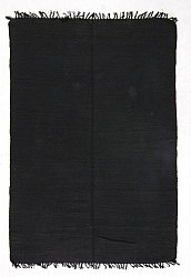 Rug 170 x 240 cm (cotton) - Silje (black)