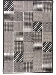 Rug 133 x190 cm (wilton) - Taverna Patch (black/white)