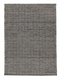 Rug 140 x 200 cm (wool) - Verona (black/grey)