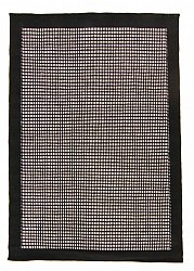 Rug 140 x 200 cm (wool) - Luxor (black/white)