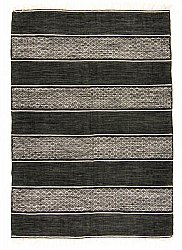 Rug 160 x 230 cm (cotton) - Visby (black)