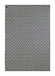 Wool rug - Wave (navy)