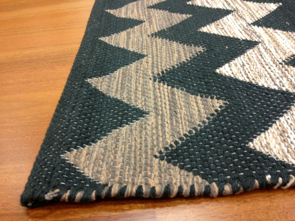 rag rugs from stjerna of sweden dalarna black brown white. Black Bedroom Furniture Sets. Home Design Ideas