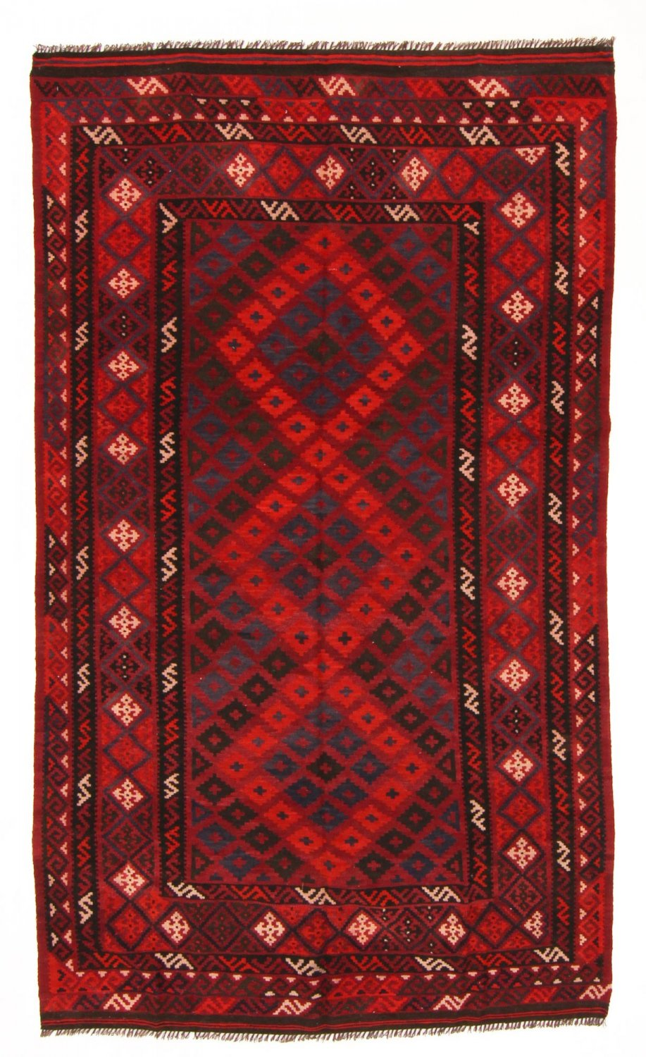 kilim rug afghan 263 x 152 cm kilim rugs red. Black Bedroom Furniture Sets. Home Design Ideas