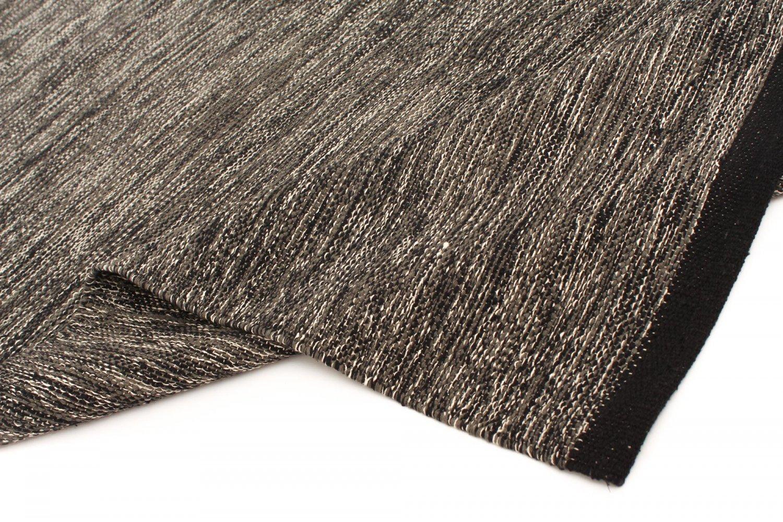 Rag Rugs Slite Black White Rag Rug Grey