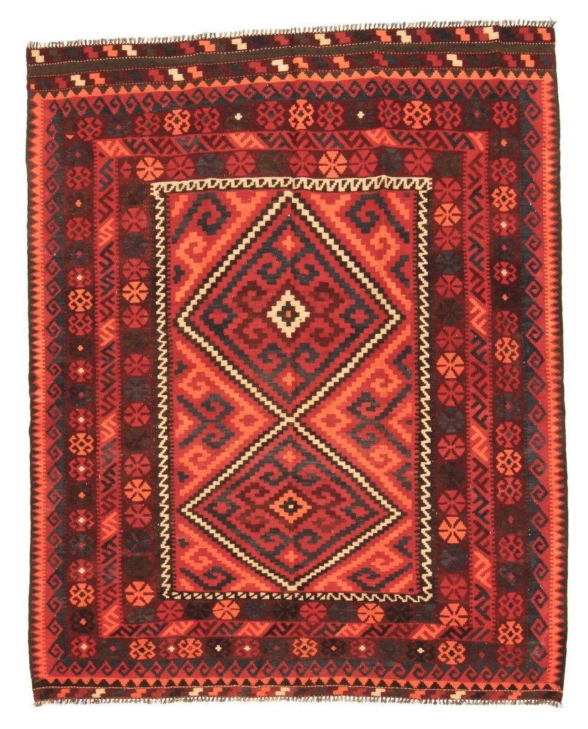 kilim rug afghan 237 x 192 cm kilim rugs red. Black Bedroom Furniture Sets. Home Design Ideas