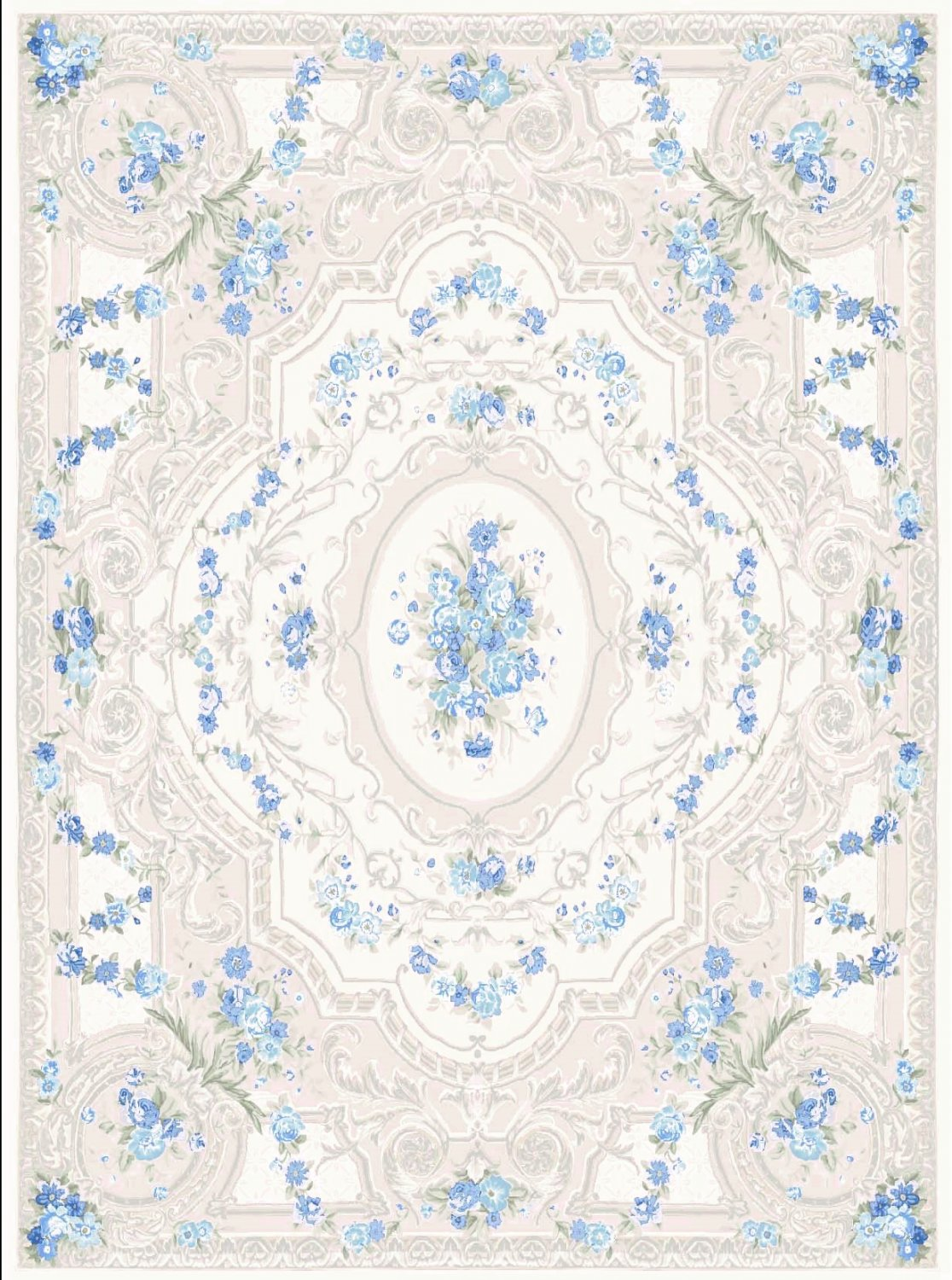 Wilton rug - Estaing (blue)