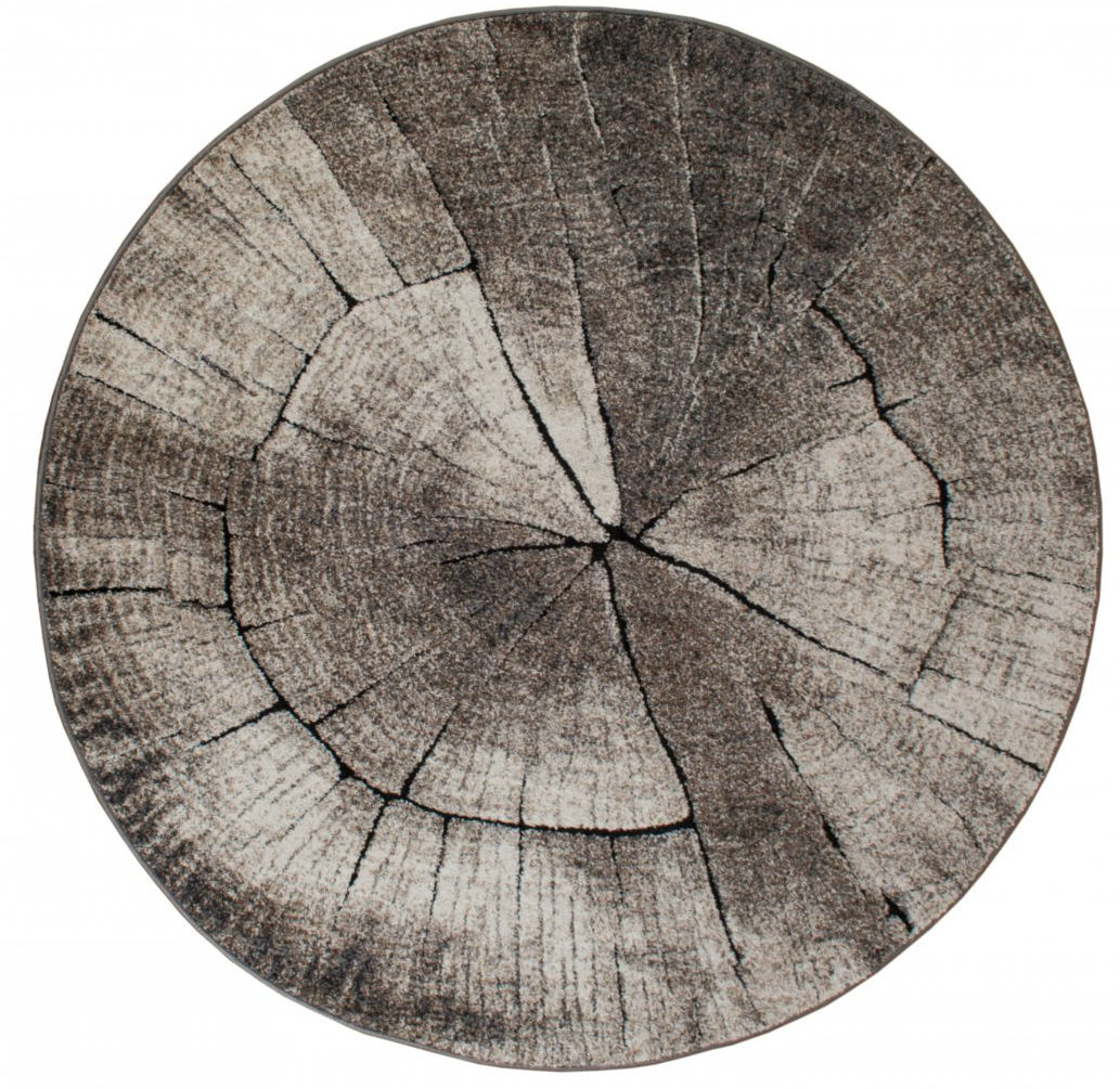 Round rugs - Ibiza Tree (grey)