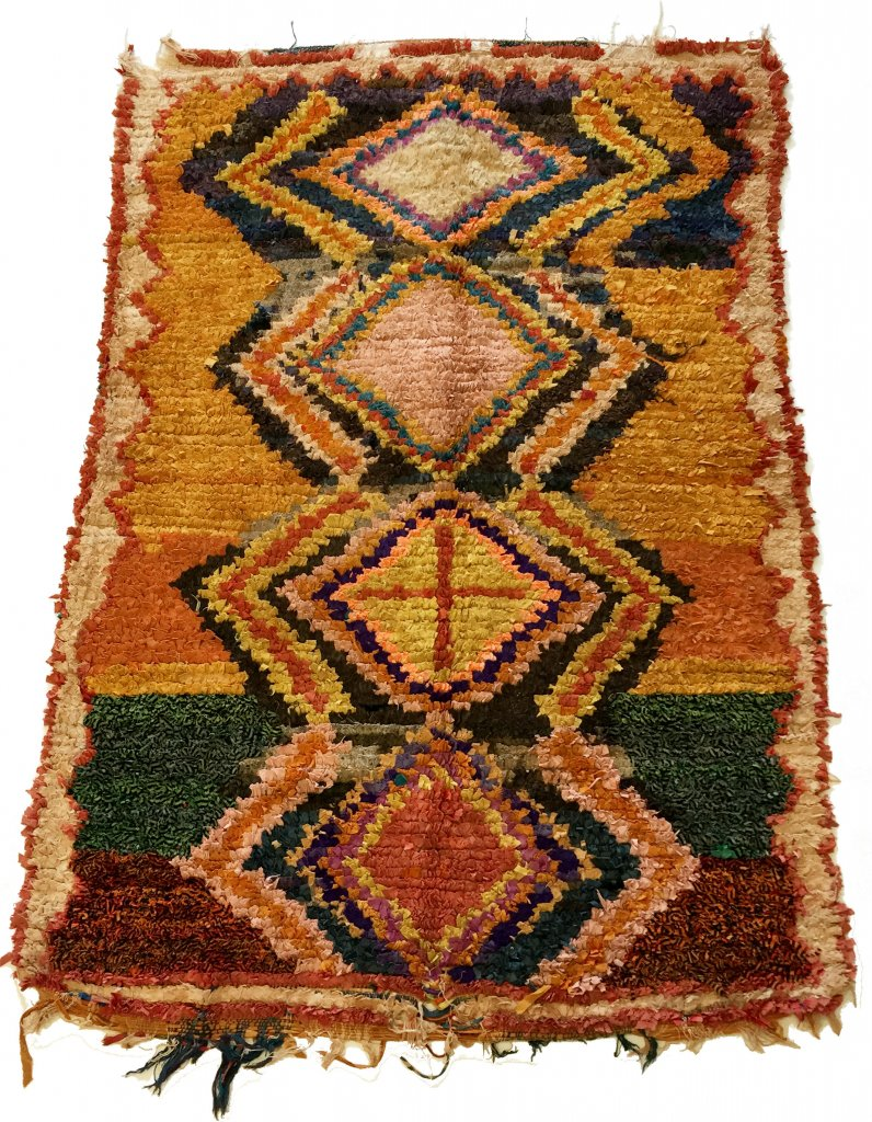 moroccan berber rug boucherouite 190 x 135 cm rag rugs. Black Bedroom Furniture Sets. Home Design Ideas