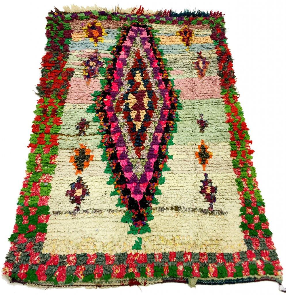 moroccan berber rug boucherouite 175 x 130 cm. Black Bedroom Furniture Sets. Home Design Ideas