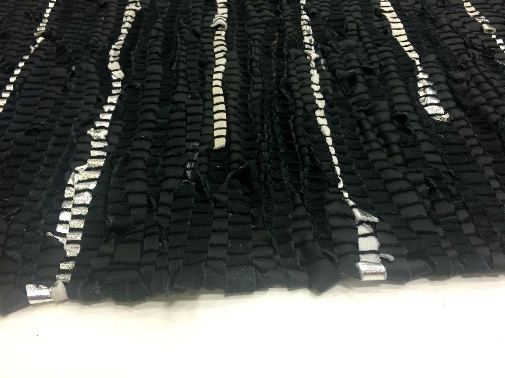 rag rugs nordal design black 100 leather. Black Bedroom Furniture Sets. Home Design Ideas