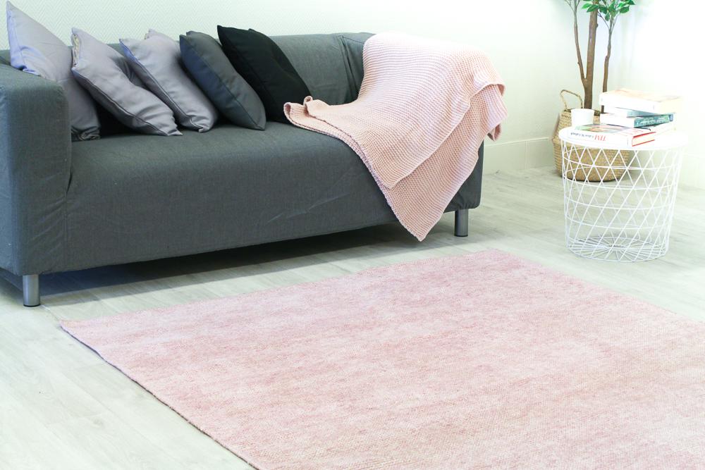 Bamboo Silk Rug Faliraki Light Pink Pink Rugs