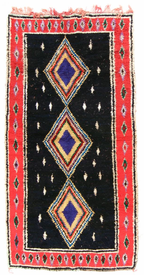 Moroccan Berber Rug Boucherouite 310 X 140 Cm