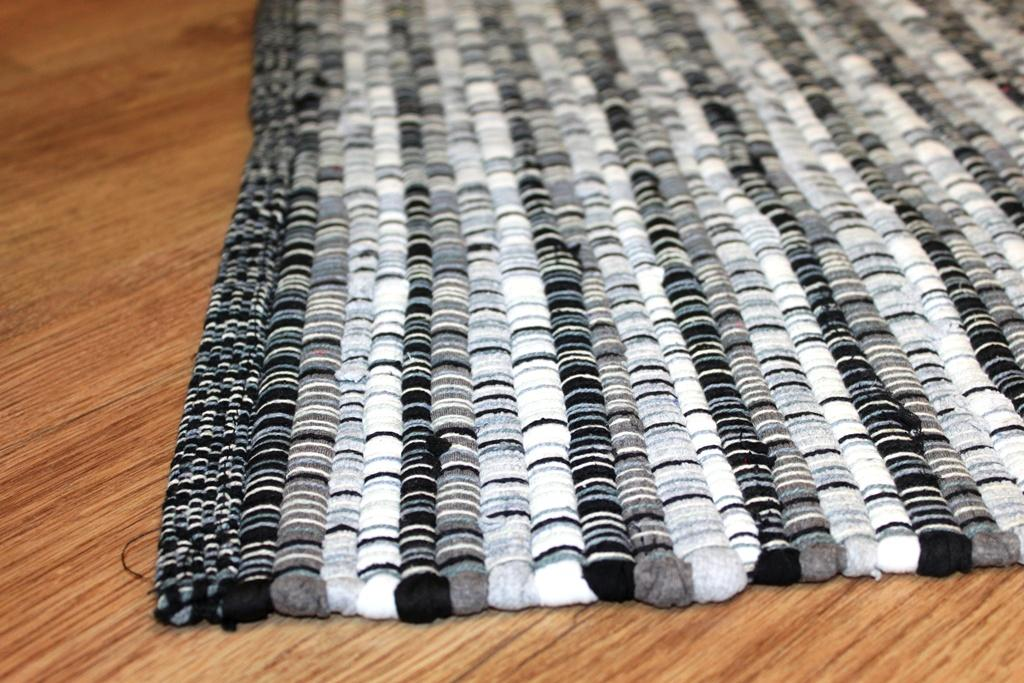 Rag Rugs Home Black White Rag Rug Black