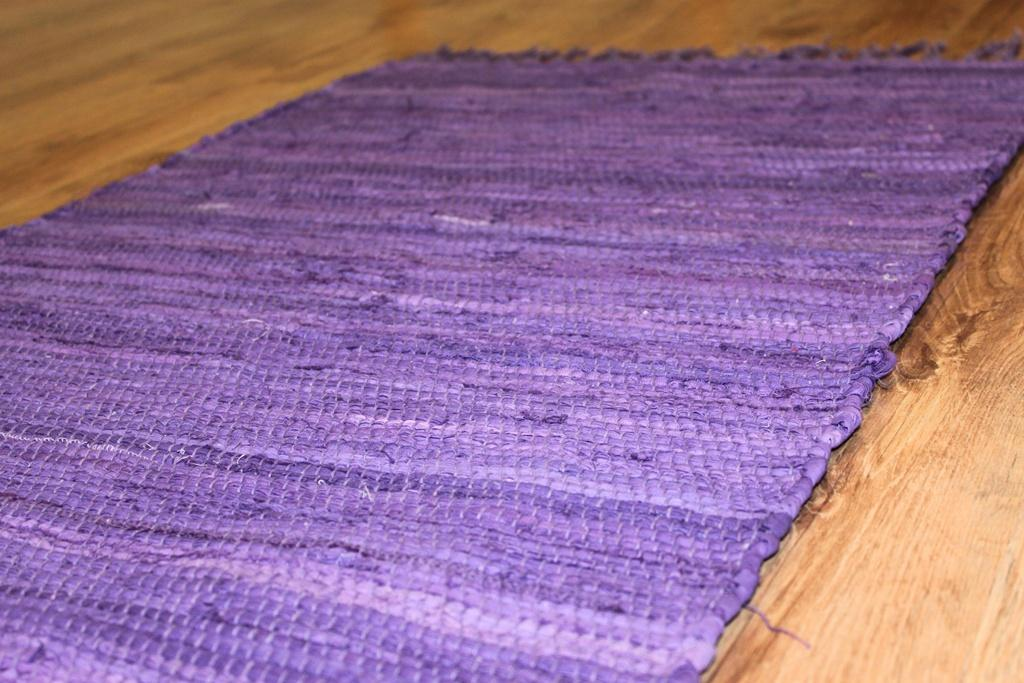 Rag Rugs Cotton Purple Rag Rugs