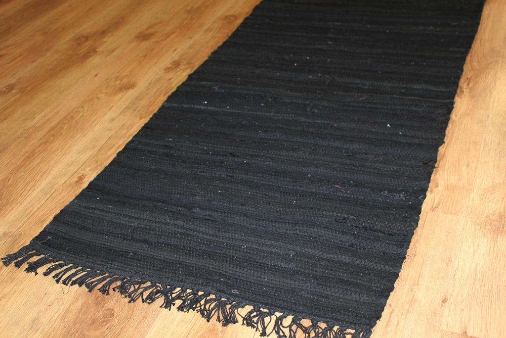 Rag Rugs Cotton Black Rag Rugs
